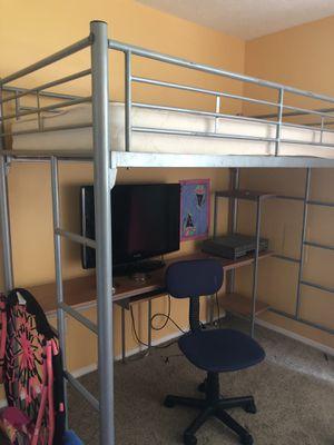Twin loft w/desk for Sale in Norcross, GA