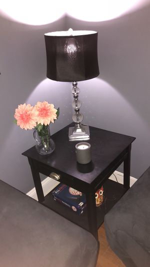 Black end table with drawer for Sale in New York, NY