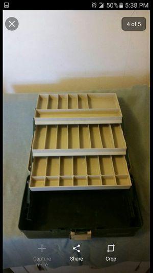 Three tier tackle box for Sale in San Bernardino, CA