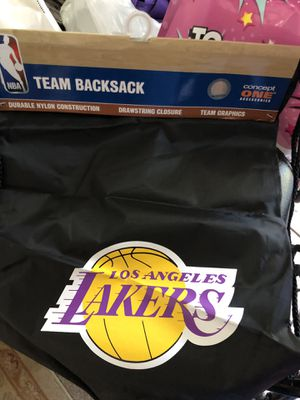 Laker draw string bag for Sale in Rancho Cucamonga, CA