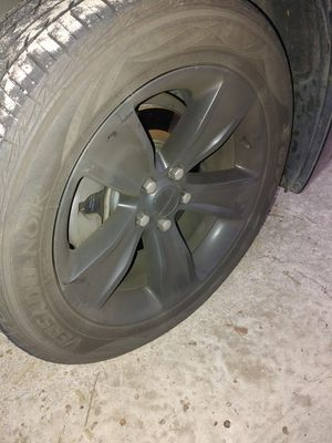 Black charger rims & tires for Sale in Morrow, GA