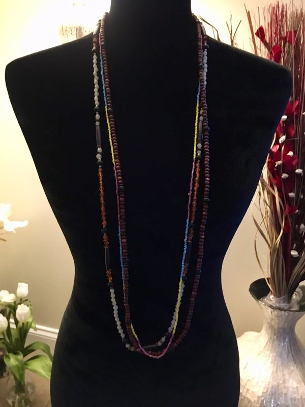 "42"" Boho Necklace - can be wrapped around once for a different look"