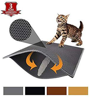 "Pieviev Cat Litter Mat Litter Trapping Mat, 11"" X 18"" Inch Honeycomb Double Layer Design Waterproof Urine Proof Trapper Mat for Litter Box for Sale in Altamonte Springs, FL"
