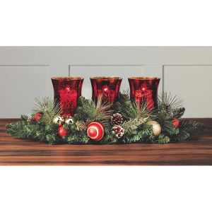 """Christmas Centerpiece Indoor 26"""" Triple Hurricane Candle Holders for Sale in Anaheim, CA"""