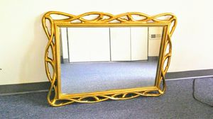 Gold Bamboo Style Mirror for Sale in Baltimore, MD