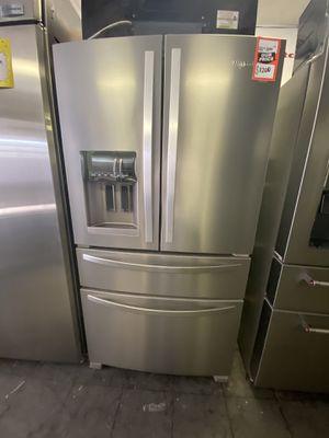 Whirlpool 4 Door Stainless Steel Refrigerator for Sale in Palmdale, CA