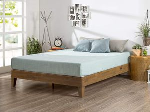 Brand new queen bed frame wood pine brand new in box for Sale in Georgetown, IN
