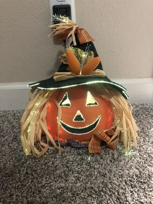 Halloween Multi-Color Fiber Optic Light Up Pumpkin for Sale in Fresno, CA