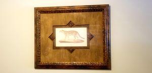 Elegant Bronze framed animal picture w/glass for Sale in Tampa, FL