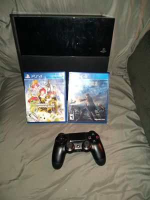 PS4 with controller, all cords and two games for $250.00 for Sale in Las Vegas, NV