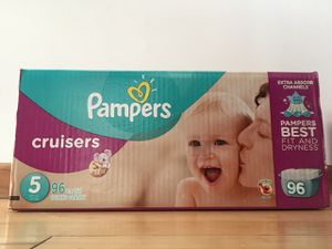 Pampers Cruisers size 5, 96 count $30 for Sale in San Leandro, CA