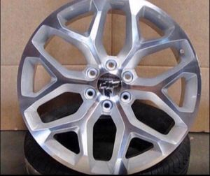 "GMC Chevrolet Replica Wheels Rims Black Machine - Gloss Black - Machine Silver Brand New In Box 24"" Inch ...$ 1099 (Wheels Only) 26"" Inch ...$1199 for Sale in La Habra Heights, CA"
