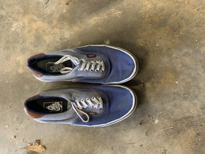 Blue leather vans for Sale in Concord, NC