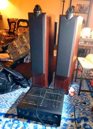 Wharfedale Modus One Six Tower Speakers Pair & Harman/Kardon AVR 500 Digital Surround Sound Receiver for Sale in Woodbridge, VA
