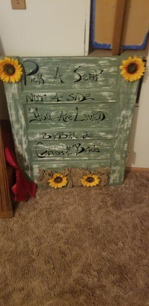 Handmade wedding sign for Sale in Edna, KS