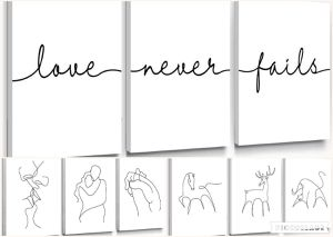 (FREE SHIPPING) Brand New Black and White Canvas Home Decor Framed Lovers Wall Art for Sale in Lansing, MI