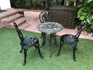 Iron 4 piece Bistro Set for Sale in Los Angeles, CA