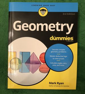 NEW paperback copy of Geometry For Dummies for Sale in San Diego, CA