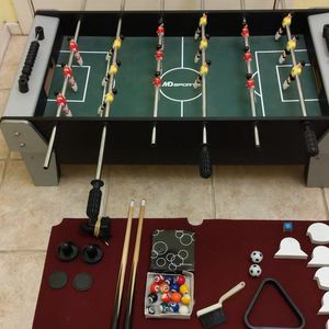 MD Sports 3-in-1 Foosball / Pool / Air Hockey Table & All Accessories for Tabletop for Sale in El Mirage, AZ