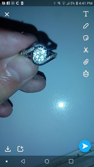 1/4 ct 10k white gold wedding ring for Sale in Galion, OH