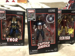 Marvel legends 80th anniversary Captain America , Thor and Iron Man for Sale in Lyons, IL