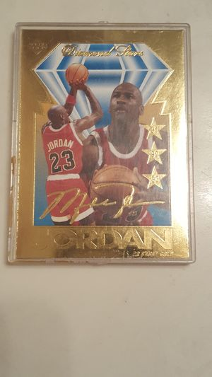 95 UPPER DECK JORDAN BULL NBA GOLD ACTION CARD. MINT ASK $69.00 for Sale in Houston, TX
