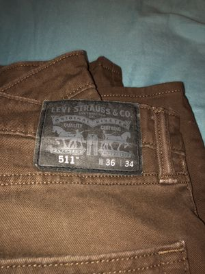 Levi Strauss 511 dark brown 36x34 for Sale in Portland, OR