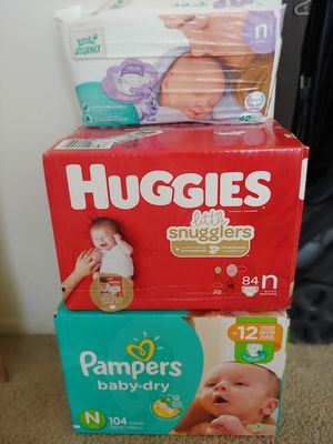 3 brand new packs of0 Newborn Diaper brands *price adjusted pampers SOLD* for Sale in Wixom, MI