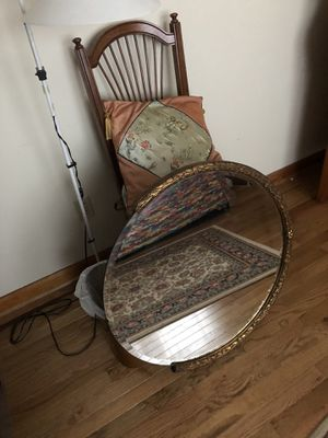 Antique mirror with gold leaf trim for Sale in Howell, NJ