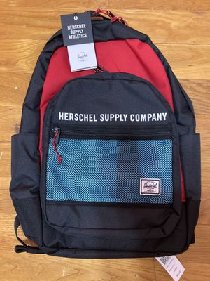 NEW Herschel Backpack Red/black/blue for Sale in Queens, NY