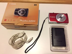 Canon Powershot A2500 with memory card and charger for Sale in Cerritos, CA