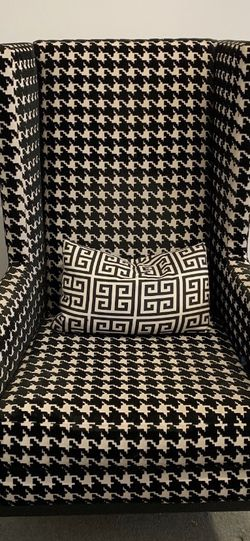 Interior Illusions Houndstooth Wingback Chair (2), $500 Each for Sale in Los Angeles,  CA