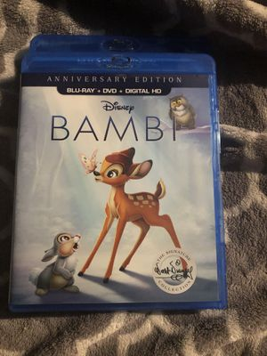Anniversary edition Blu-ray DVD Disney's Bambi for Sale in La Puente, CA