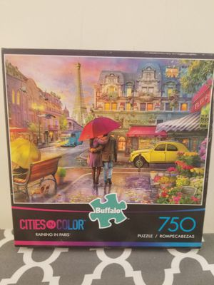 Buffalo Games- Raining in Paris- 750 Piece Jigsaw Puzzle for Sale in Richmond, VA