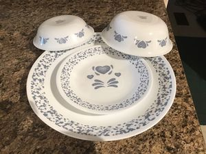 Blue Heart Corelle Dishes for Sale in Lebanon, PA