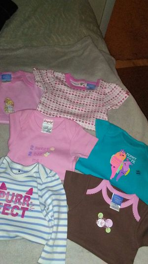 6 baby girl onesies for Sale in Chicago, IL