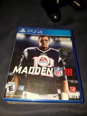 Madden 18 PS4 for Sale in Pleasanton, CA