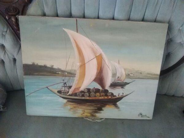 Watercolor sailboat art/hone décor