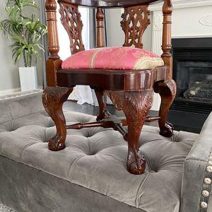 Antique Mahogany Kids Wooden Corner Chair for Sale in Bristow, VA
