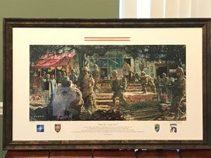 """Framed James Dietz print 'First In...Last Out""""; signed & numbered for Sale in Zachary, LA"""