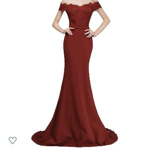 Honey Qiao Off The Shoulder Mermaid Bridesmaid Dresses Long Lace Prom Party Gowns size 14 for Sale in Grand Prairie, TX