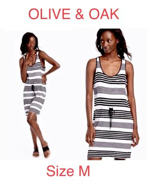 OLIVE & OAK, Black & White Striped Dress, Size M for Sale in Phoenix, AZ