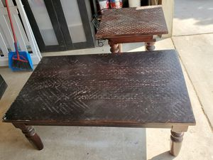 Hammered Top wooden coffee/end tables for Sale in Pumpkin Center, CA