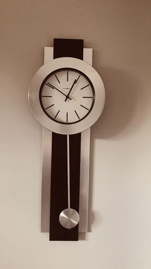 Wall clock wood & glass 3ft long for Sale in Portage, MI