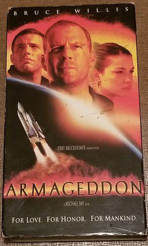 Armageddon vhs movie stars Bruce Willis for Sale in Three Rivers, MI