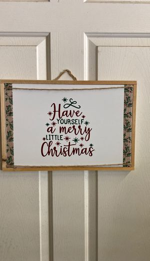 Wooden handmade Christmas sign for Sale in DeLand, FL