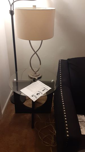 Couch and love seat and glass top coffee table and 2 end table with 2 lamps for Sale in Washington, DC