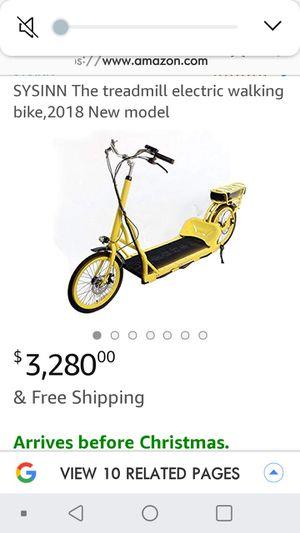 Treadmill electric walking bike for Sale in Hayward, CA
