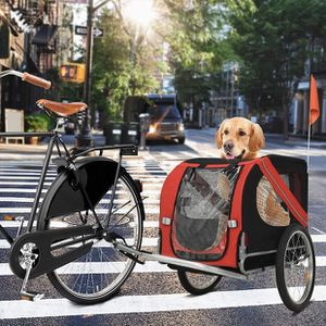 Dog Bike Trailer Foldable for Storage and Transport Sturdy Quick-release Pet Dog Stroller Jogger Red and Black for Sale in Ontario, CA