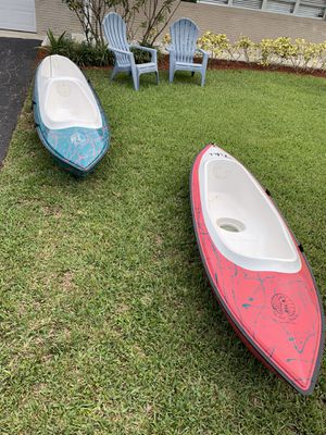 Tiki kayak single and double passenger for Sale in Hialeah, FL